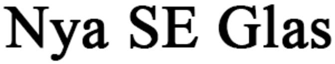 Nya SE Glas logo