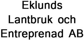 Eklunds Lantbruk och Entreprenad AB logo
