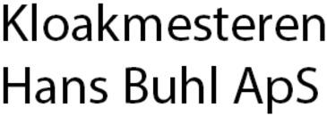 Kloakmesteren Hans Buhl ApS logo
