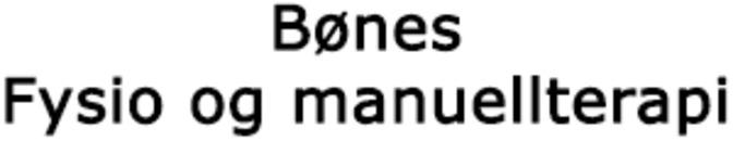 Bønes fysio/manuellterapi logo
