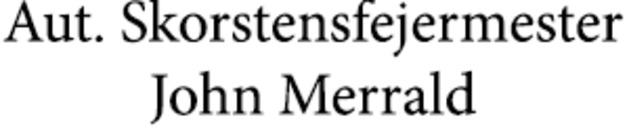 Aut. Skorstensfejermester John Merrald logo