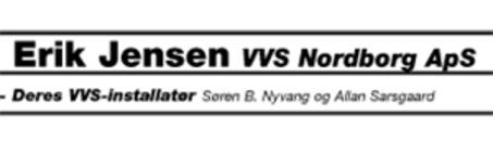 Erik Jensen VVS-Nordborg ApS logo