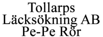 Tollarps Läcksökning AB / Pe-Pe Rör logo