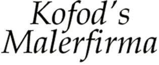 Kofod's Malerfirma logo