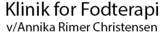 Klinik for Fodterapi ved Annika Rimer Christensen logo