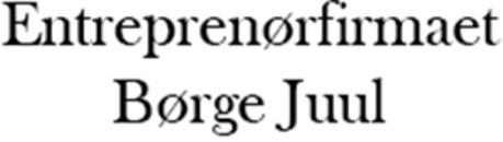 Entreprenørfirmaet Børge Juul logo