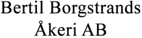 Bertil Borgstrands Åkeri AB logo