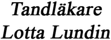 Tandläkare Lotta Lundin logo