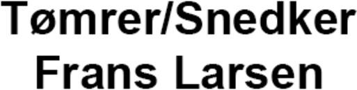 Tømrer/Snedker Frans Larsen ApS logo