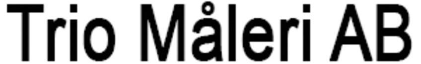 Trio Måleri AB logo