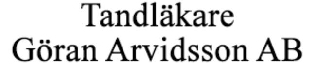 Tandläkare Göran Arvidsson AB logo