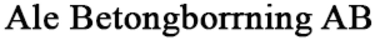 Ale Betongborrning AB logo