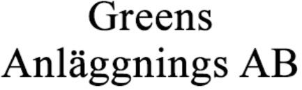 Greens Anläggnings AB logo