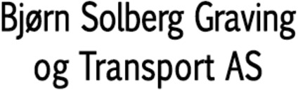 Bjørn Solberg Graving og Transport AS logo