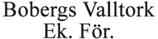 Bobergs Valltork Ek. För. logo