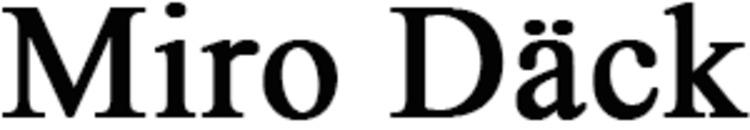 Miro Däck logo