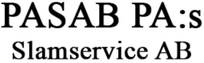 PASAB PA:s Slamservice AB logo