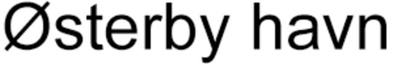 Østerby Havn logo