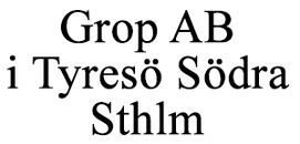 Grop AB Entreprenad logo