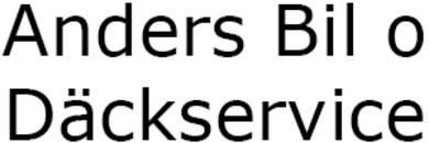 Anders Bil o Däckservice logo
