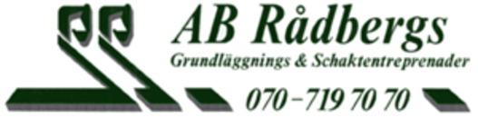Rådbergs Grundläggnings & Schaktentreprenader, AB logo