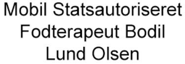 Mobil Statsautoriseret Fodterapeut Bodil Lund Olsen logo