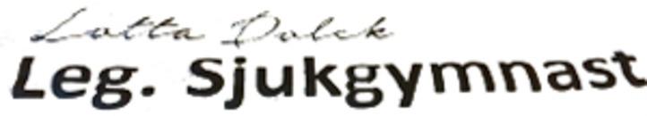 Leg. Sjukgymnast Lotta Dolck logo