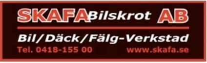 SKAFA Bilskrot AB logo