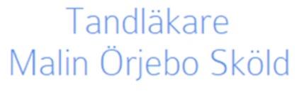 Tandläkare Malin Örjebo Sköld logo
