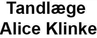 Tandlæge Alice Klinke logo