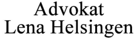 Helsingen Lena, Advokat logo