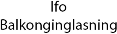Ifo Balkonginglasning, AB logo