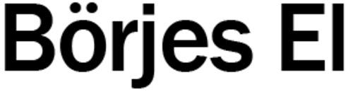 Börjes El logo