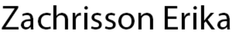 Zachrisson Erika logo