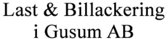 Last & Billackering i Gusum AB logo