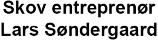 Skov entreprenør/ Lars Søndergaard logo