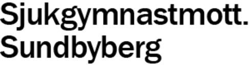 Sjukgymnastmott. Sundbyberg logo