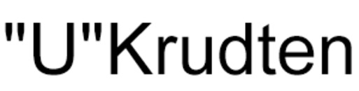 """U""Krudten logo"