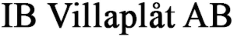 IB Villaplåt AB logo
