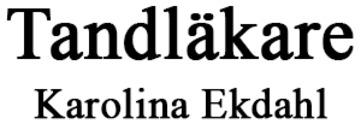 Tandläkare Karolina Ekdahl logo
