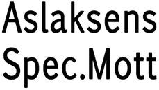 Aslaksens Spec.Mott logo