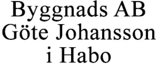 Byggnads AB Göte Johansson i Habo logo