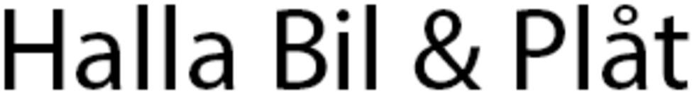 Halla Bil & Plåt logo