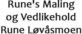 Rune's Maling og Vedlikehold Rune Løvåsmoen logo