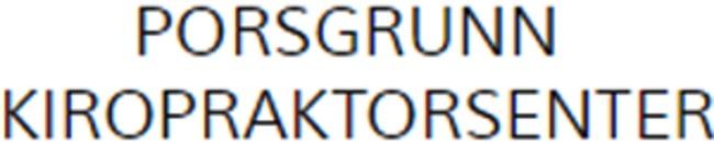 Porsgrunn kiropraktorsenter Hallstein Chr Torp logo