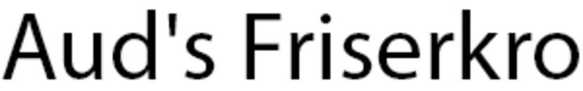 Aud's Friserkro logo