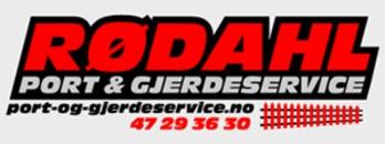 Rødahl Port og Gjerdeservice logo