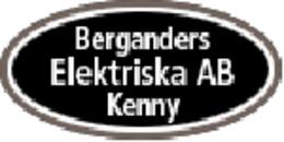 Bergander Elektriska AB, Kenny logo