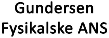 Gundersen Fysikalske ANS logo
