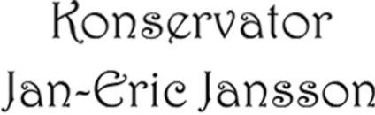 Konservator Jan-Eric Jansson logo